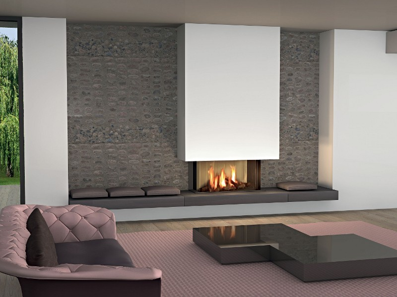 Modern fireplaces for stunning indoor and outdoor spaces for Contemporary fireplace insert