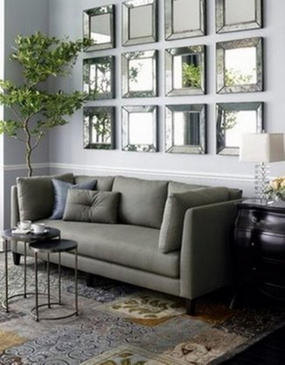 Luxurious Living Room Mirror Above Couch Living Room