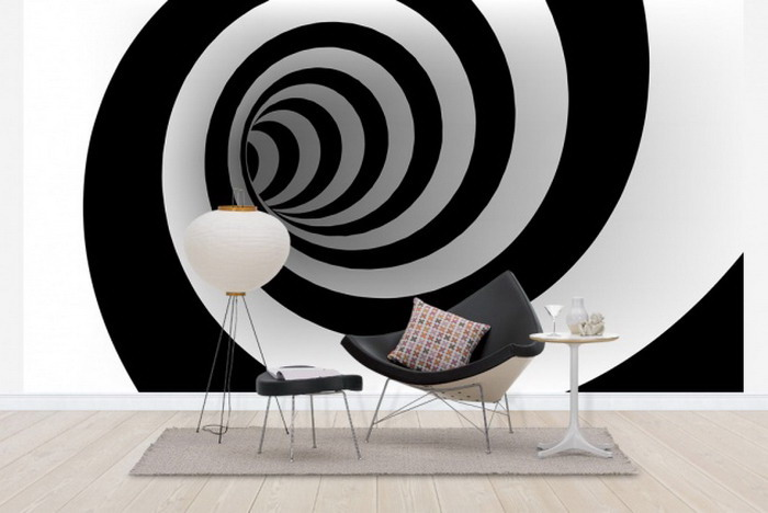Embellish your home decor with the optical art for 3d room decor
