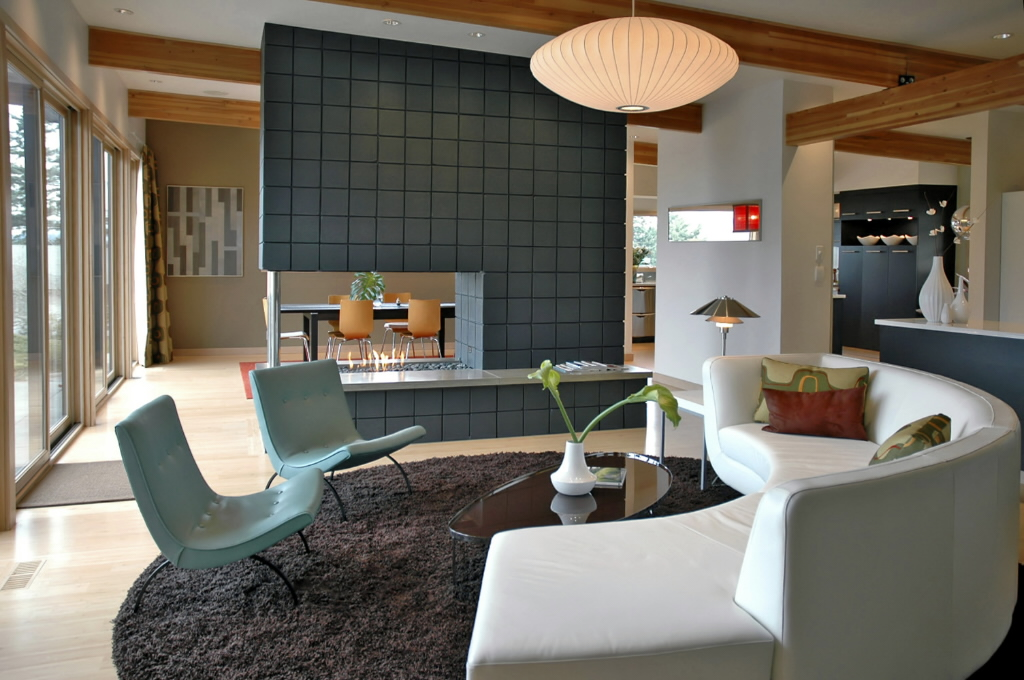 Mid century modern style Contemporary interior design