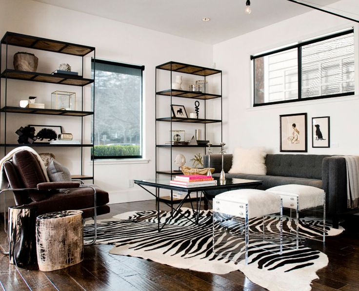 7 ways to incorporate stripes into your home decor for Living room ideas with zebra rug