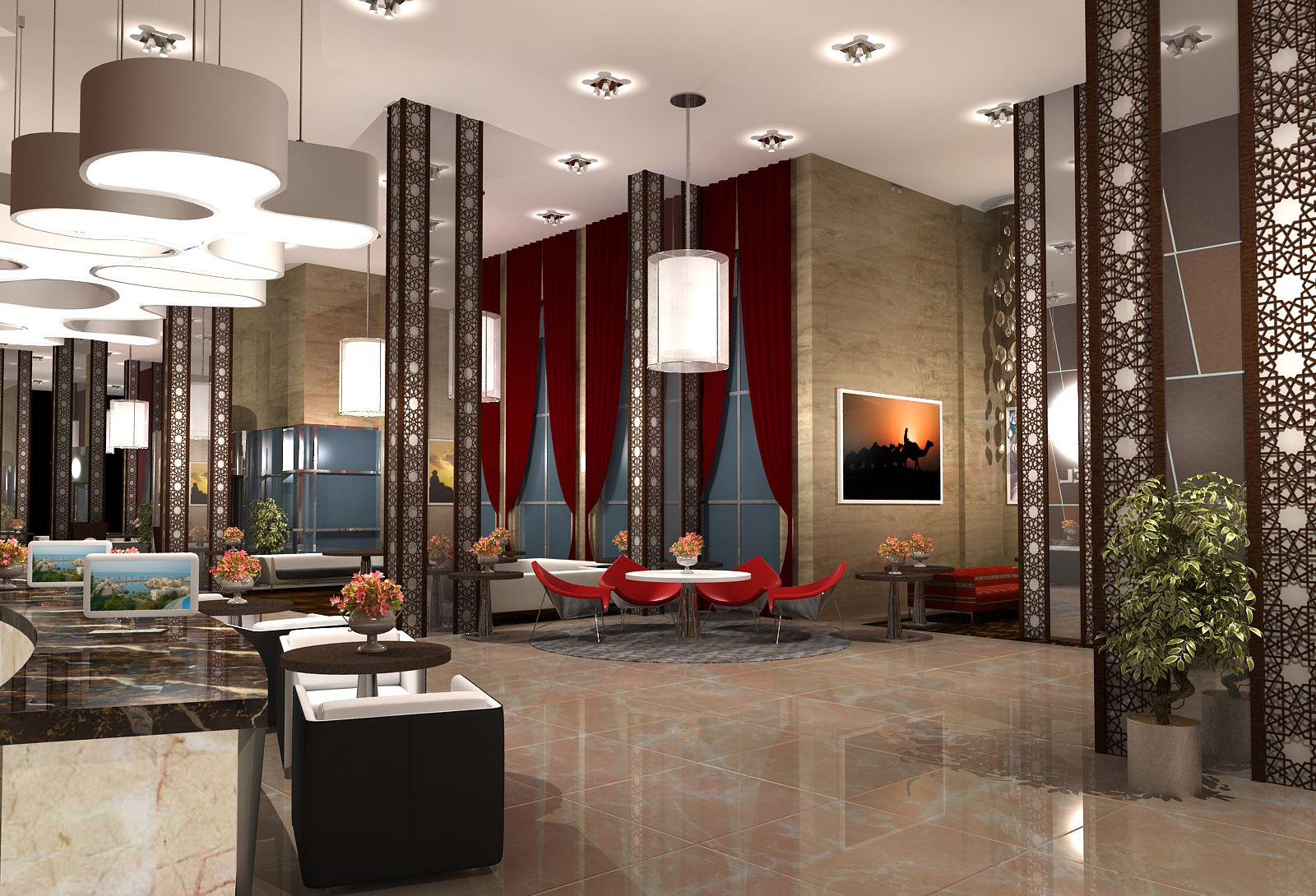 6 ways hotel lobbies teach us about interior design for Villa lobby interior design