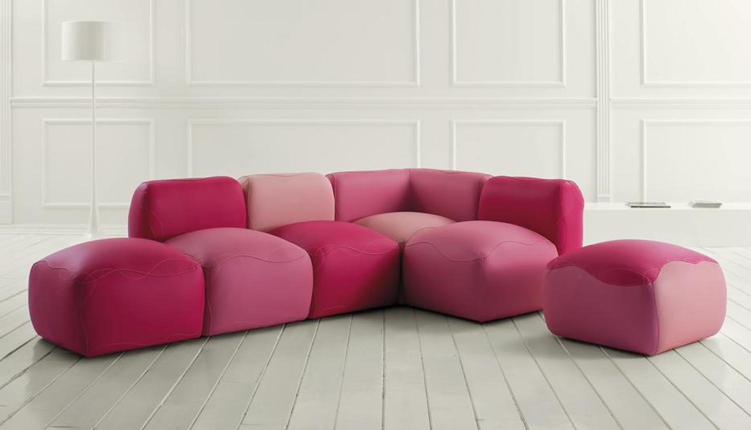 Amazing ... Multi Hued Modular Sofa Adds A Sense Of Fun To Any Room