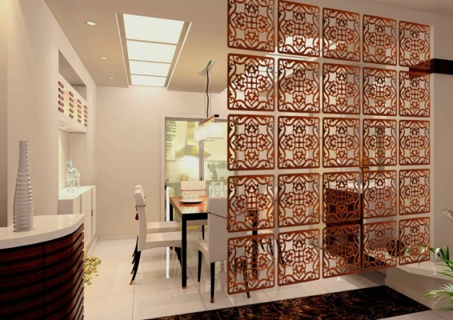 Lovely room divider panels create functional dimension