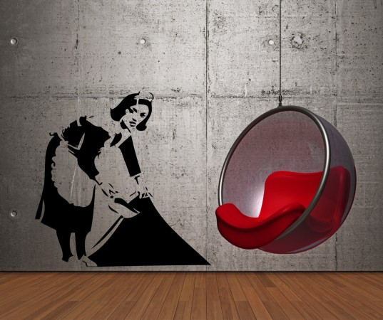 Incredible Banksy wall sticker