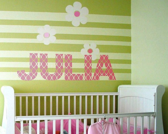 Letter wall sticker for the kids room