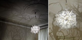 Terrific idea for original DIY chandeliers