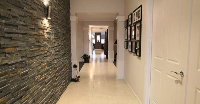 a small but clean and clear hallway seems wider