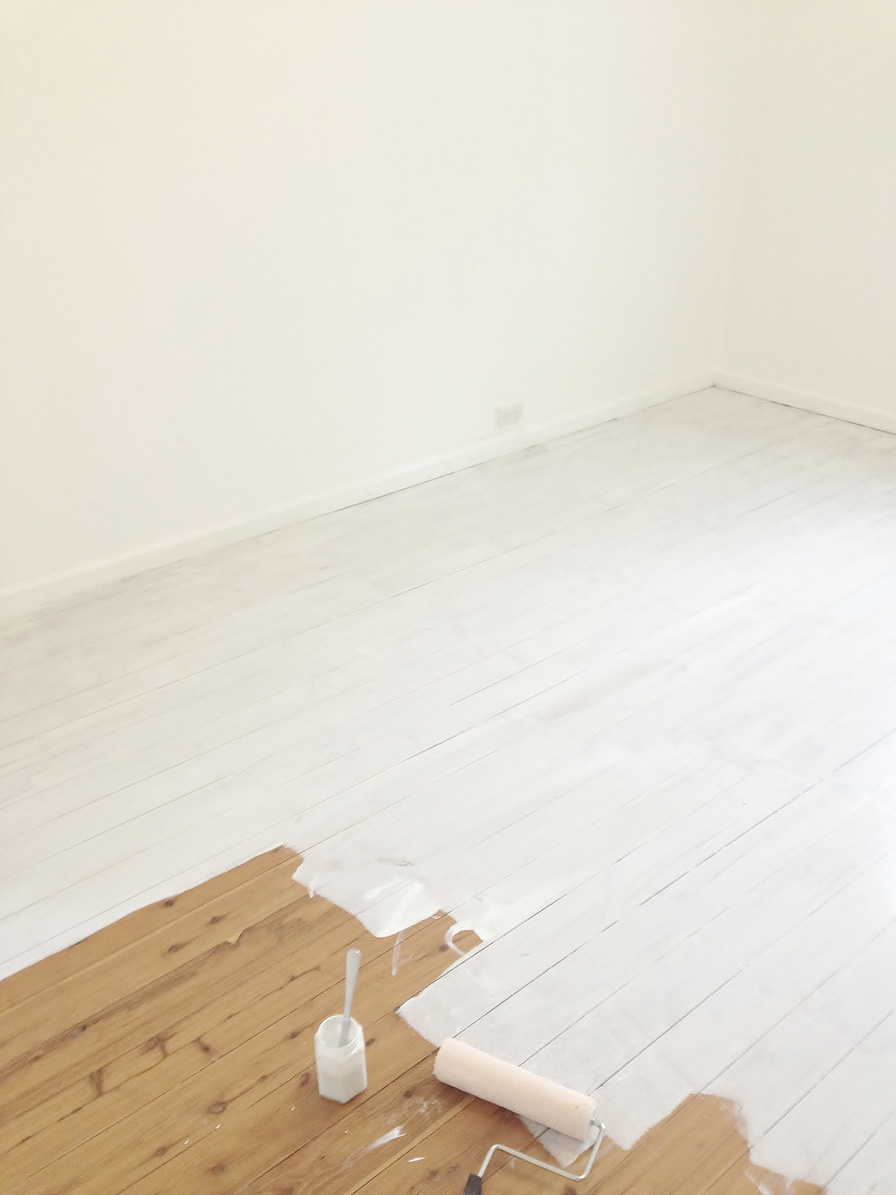 Lighten Up With Painted White Floorboards