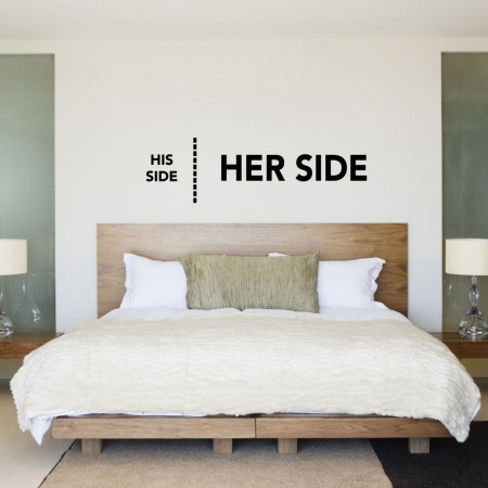 funny wall sticker for a contemporary bedroom