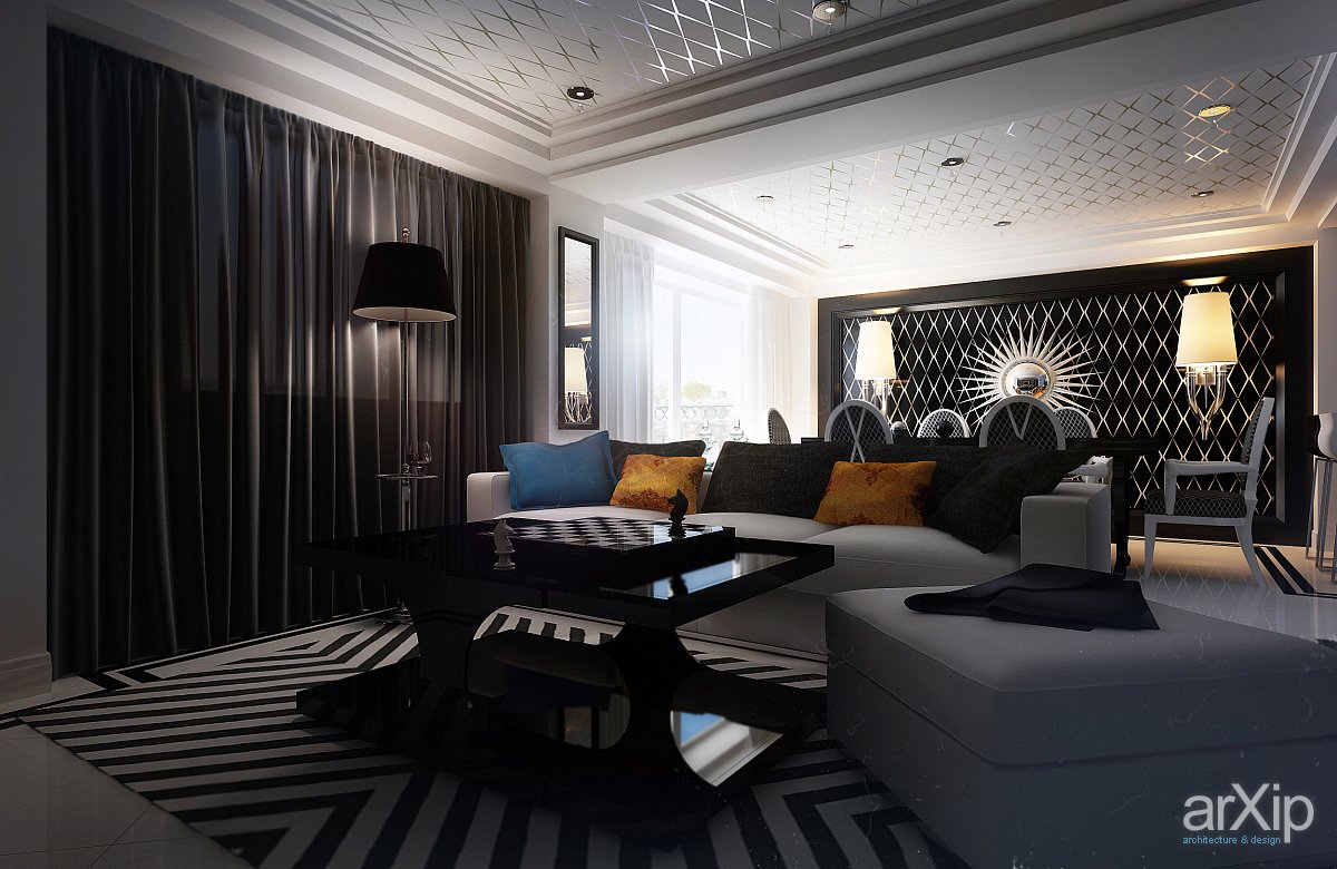 How to add black to your interiors for sophisticated style for Interior house designs black and white