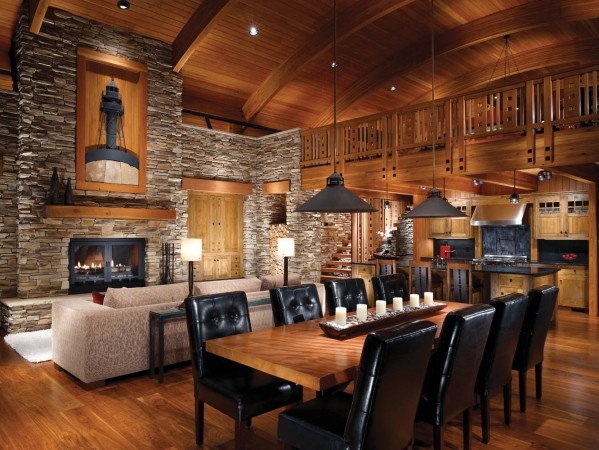 Warm and inviting lodge interior