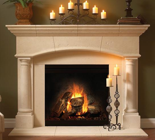 ... Stone mantel is architectural enhancement - Heat Up Your Fireplace With A Stylish Mantel