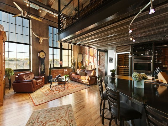 urban loft apartment: industrial bachelor loft get the look., Innenarchitektur ideen
