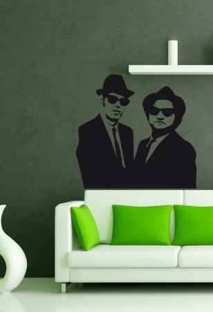 blues brother wall sticker