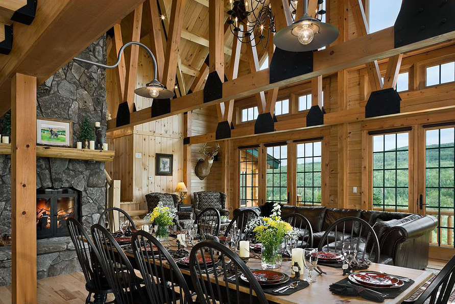 The beauty and comfort of lodge style interiors Home interior pictures for sale