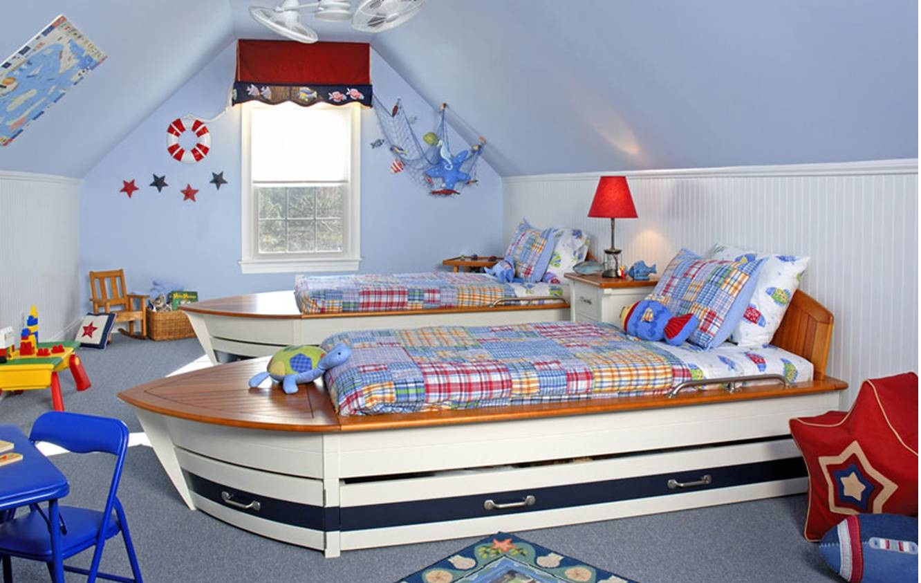 Unique Design Ideas For Kids Bedroom Creative Kids Room Furnished As Boats