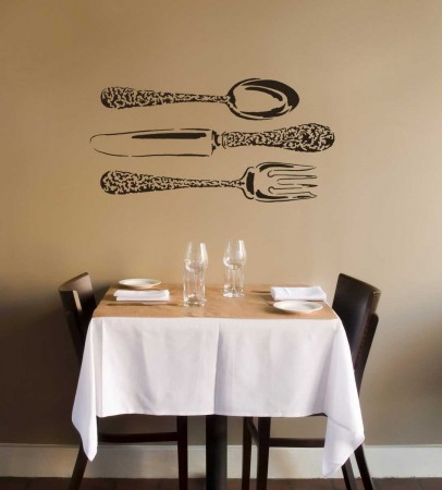 creative wall stencils for the dining room