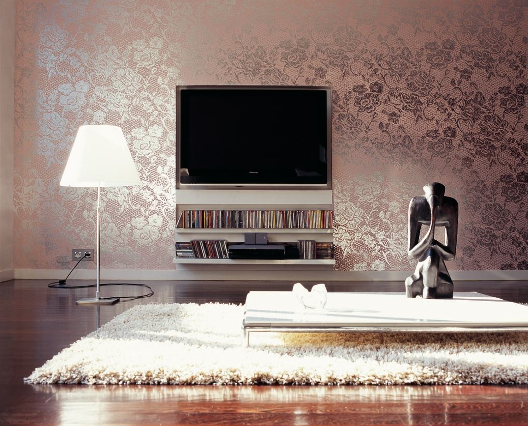 Beautiful Metallic Wallpaper Alibaba Gives Glamorous Dimension To This Space