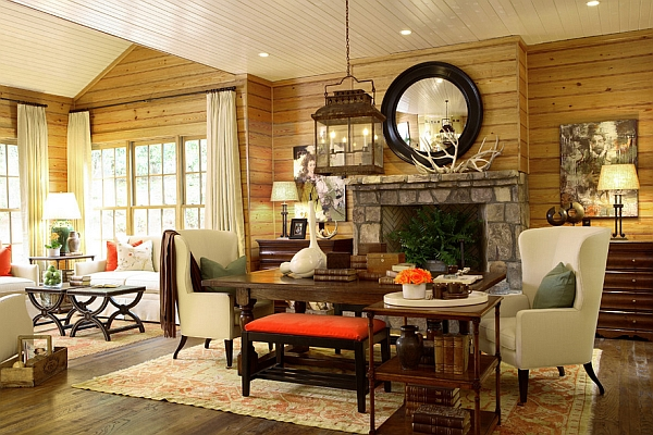 Lodge style interior design