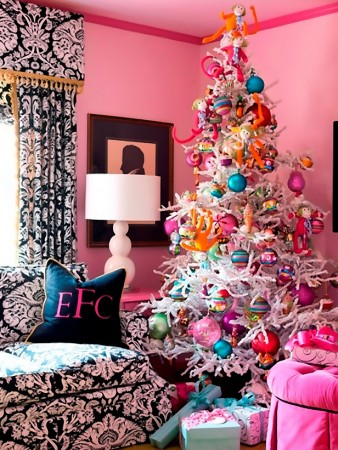 Alternative pink Christmas decorations