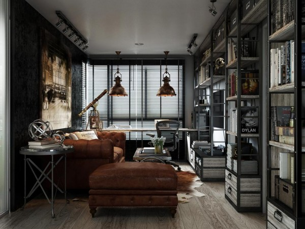 Masculine industrial space