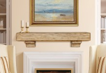 Simple and stylish mantel