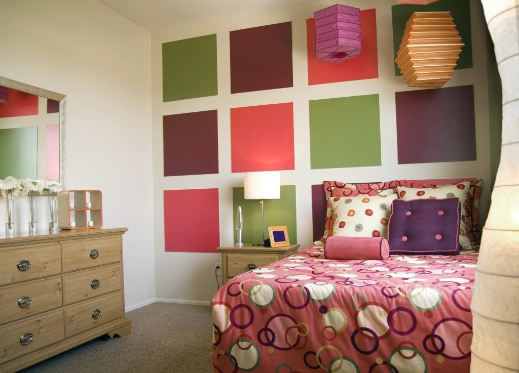 Bright Modern Bedroom Design For Teenage Girl (Pinterest) Color Blocks  Enhance Teen Bedroom Design