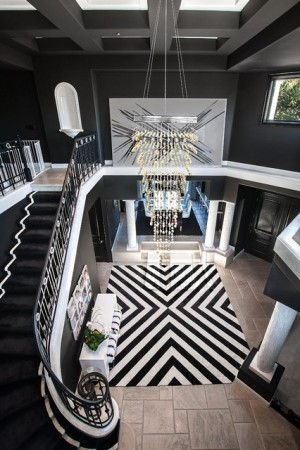 Dramatic black and white entry