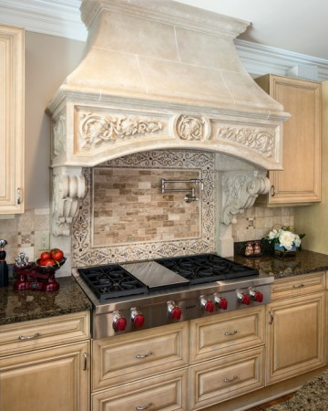 Traditional range hood cover