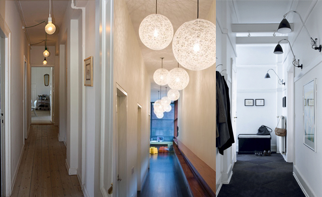 how to decorate hallyways with lights