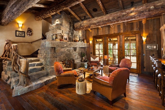 Cozy lodge interior