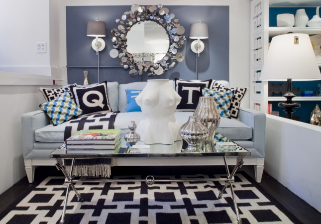 Pottery designed by Jonathan Adler takes center stage