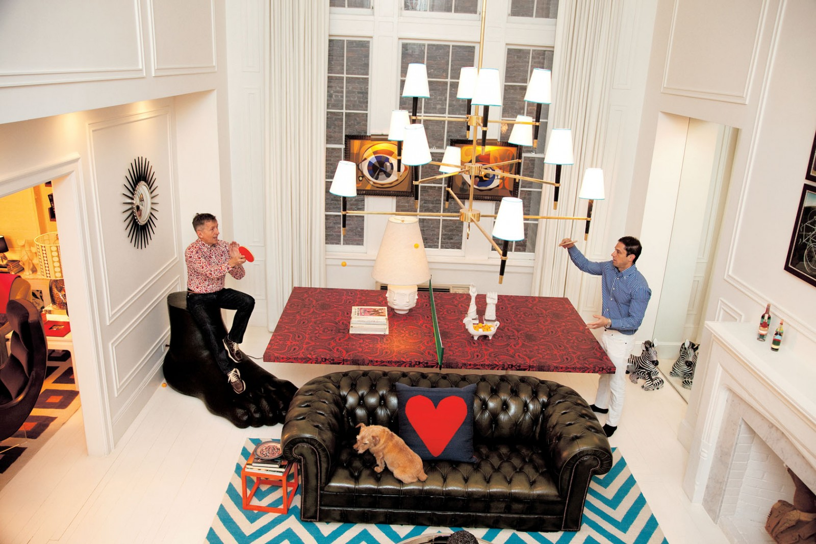 Jonathan Adler And Simon Doonan Relax At Home