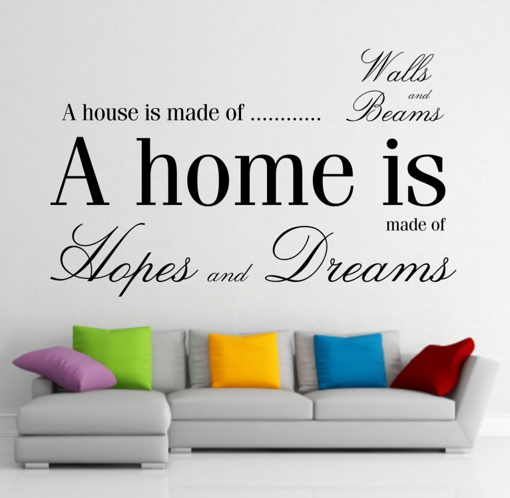 Give a touch of creativity to your home with the wall stickers for Home wallpaper quotes