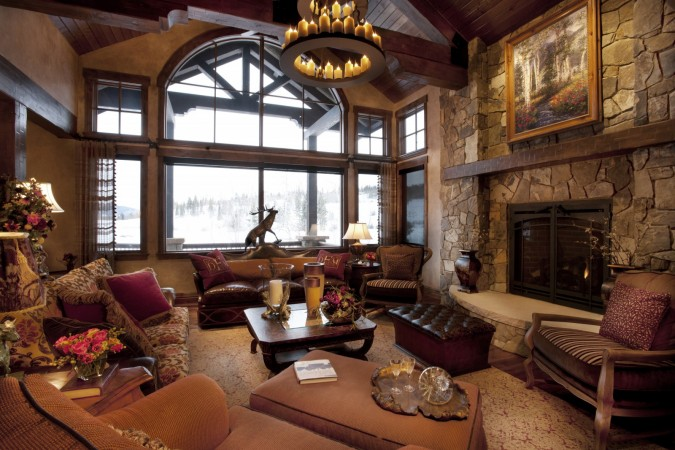 Beautiful lodge interior