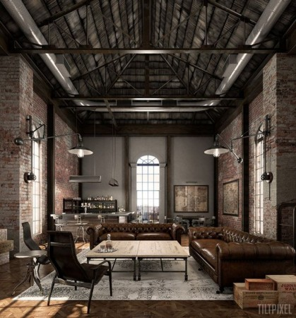 Industrial space with masculine character