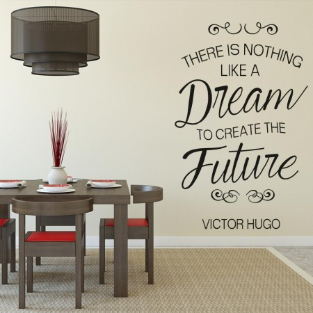 original vinyl wall stickers with Victor Hugo quote