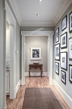 pics and photos can make an hallway more interesting