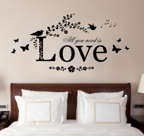 romantic wall sticker for bedrooms