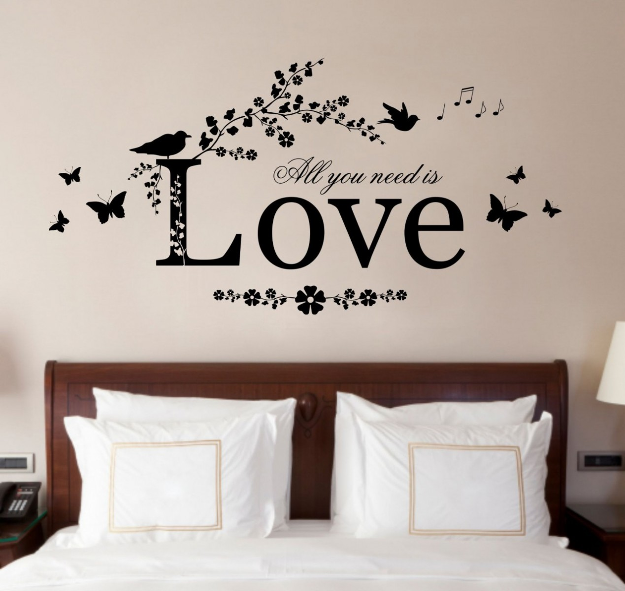 romantic wall sticker for bedrooms Livinator