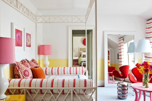 Bright modern teenage girl bedroom design
