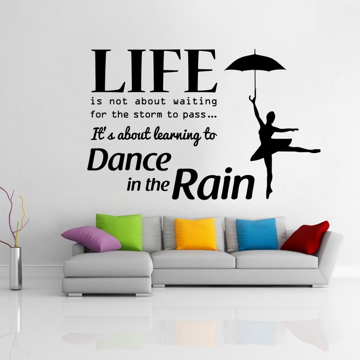 Charming ... Stunning Wall Sticker For Living Room Part 24