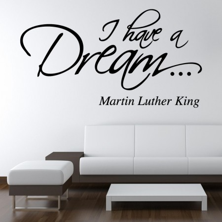 superb wall sticker with martin luther king quote