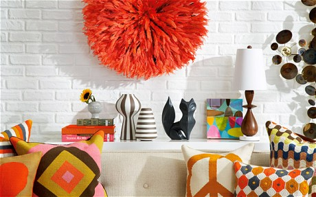 "Some of the modern ""Happy Chic"" décor representative of Jonathan Adler's products"