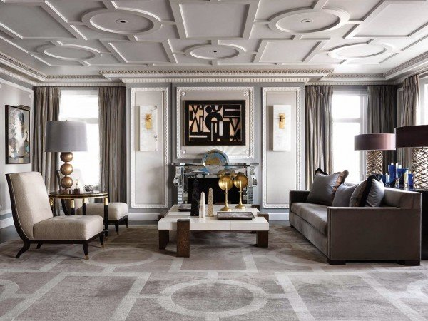 Chic contemporary styling in a traditional space