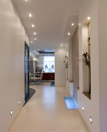 tips to furnish and decorate small hallways with lights