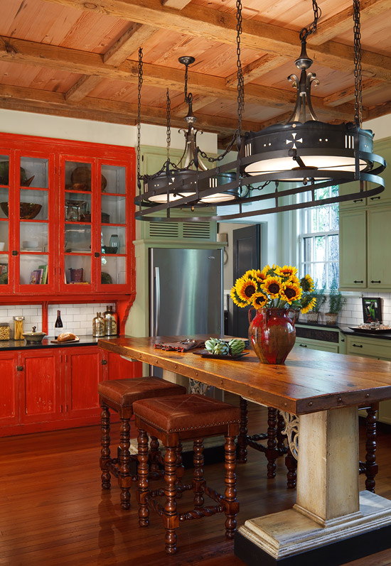 31 cool and colorful kitchens for Cool kitchen paint colors