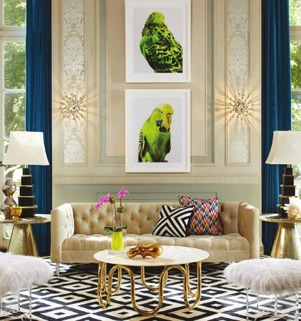 Modern luxury in this Jonathan Adler interior