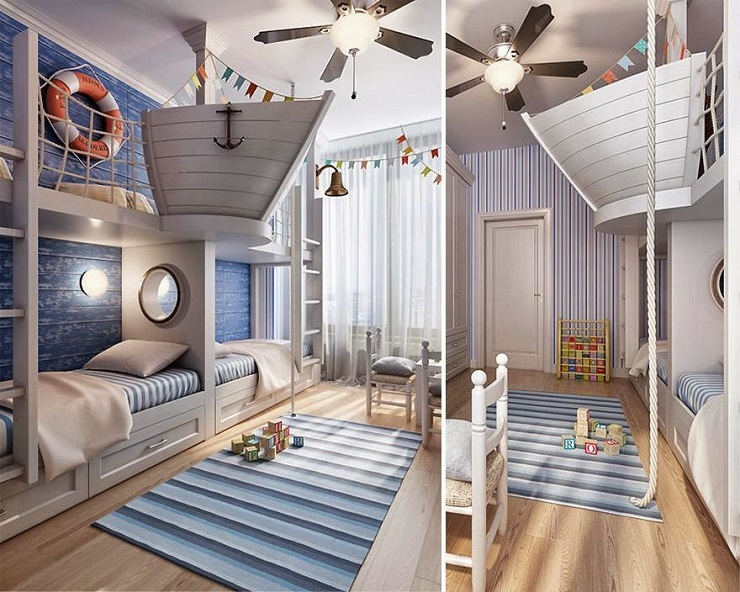 15 outstanding ideas for unique kids rooms for Unique bedroom designs